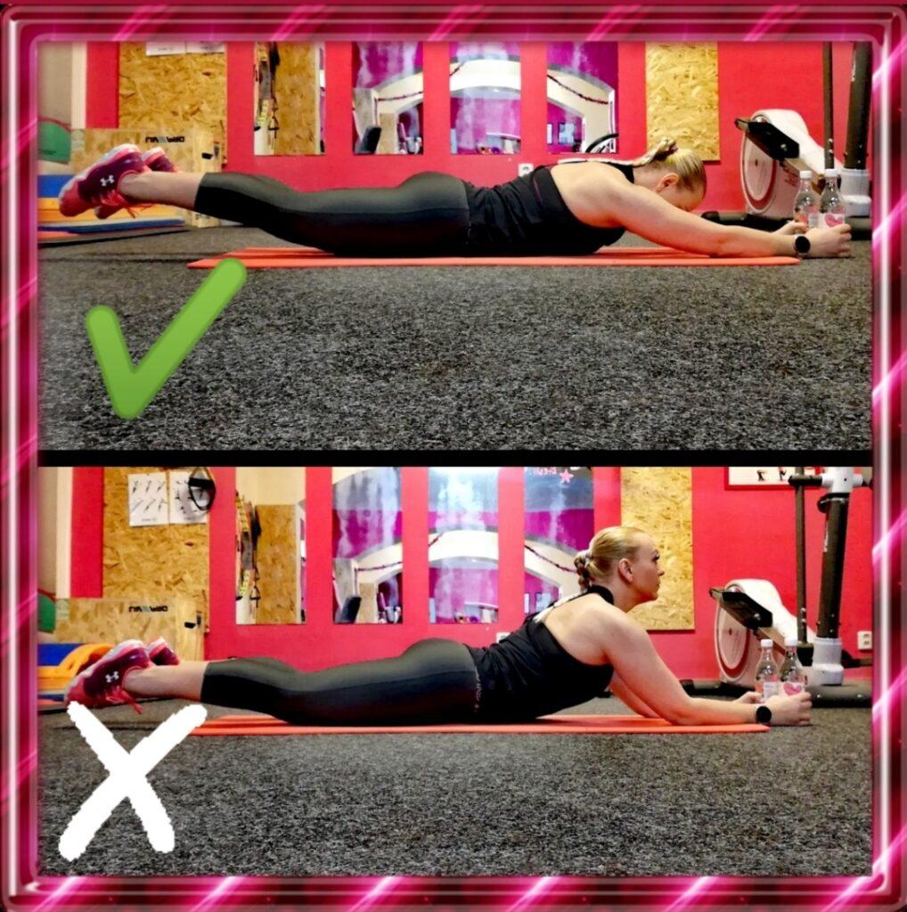 Zkuste se naučit cvičit zaďáky sama, nebo se poraďte ve fitku. Pozor na záda!